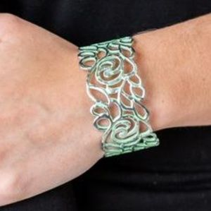 Mint Green Brushed Metal Cuff